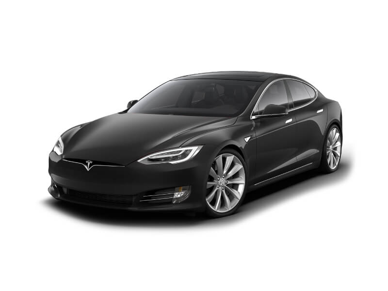 Tesla Model S Facelift Schwarz